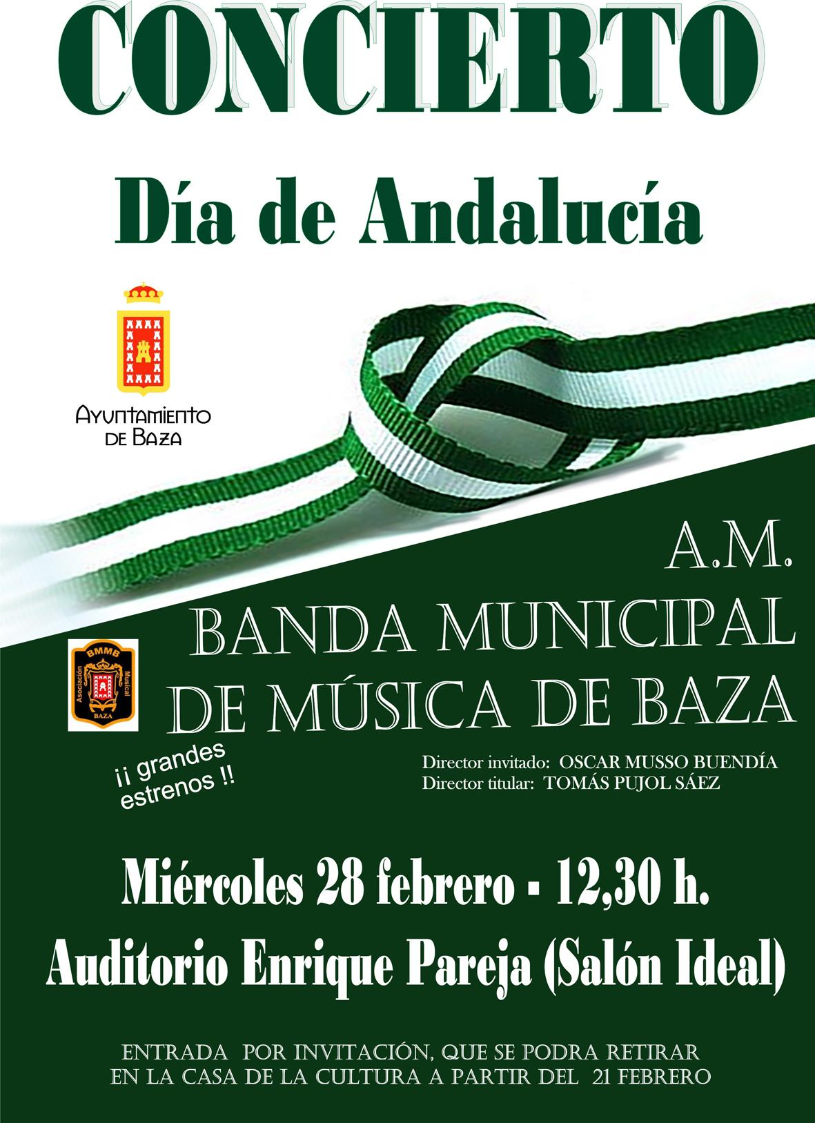 cartel concierto Día Andalucía