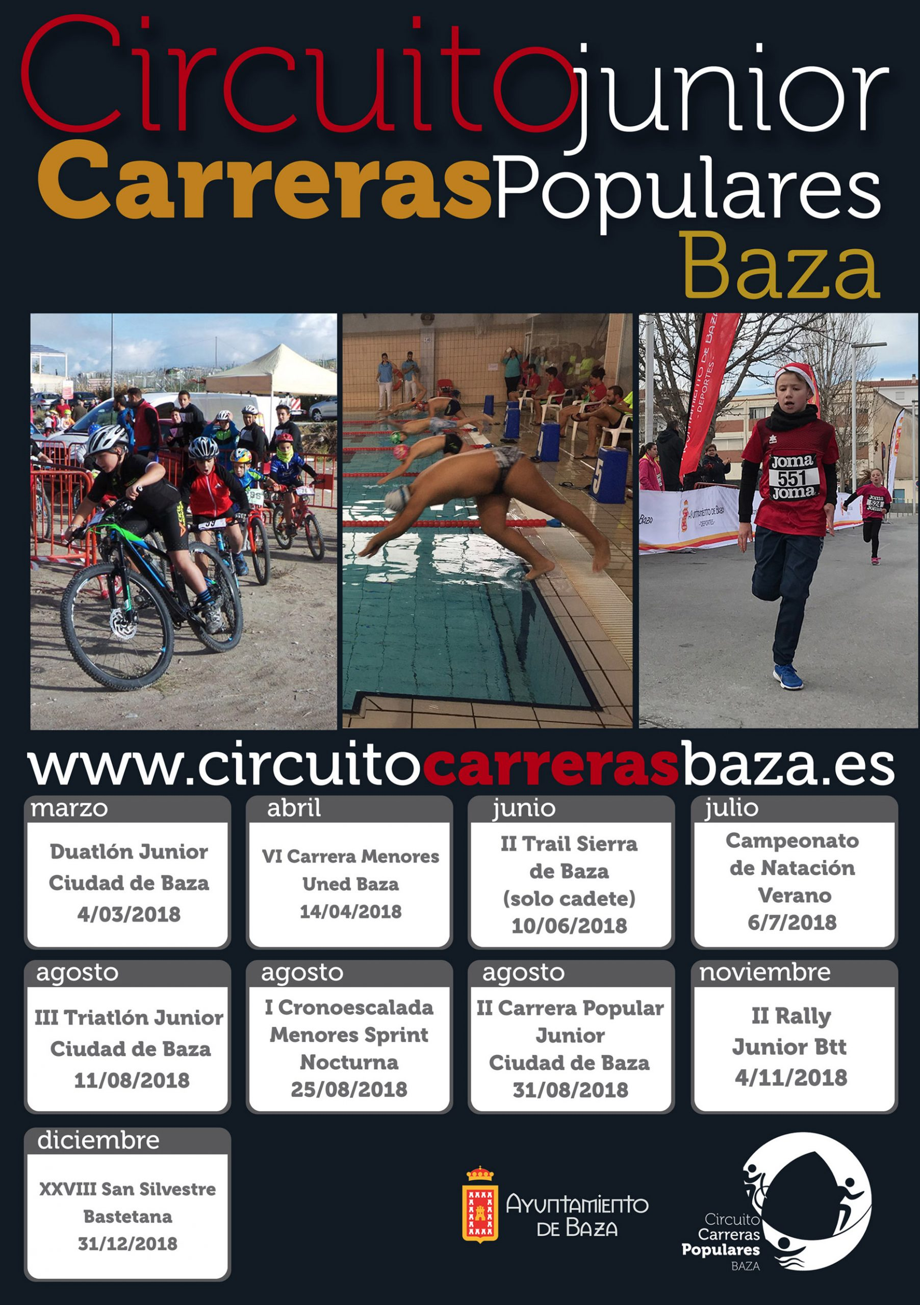 Cartel Circuito de carreras junior