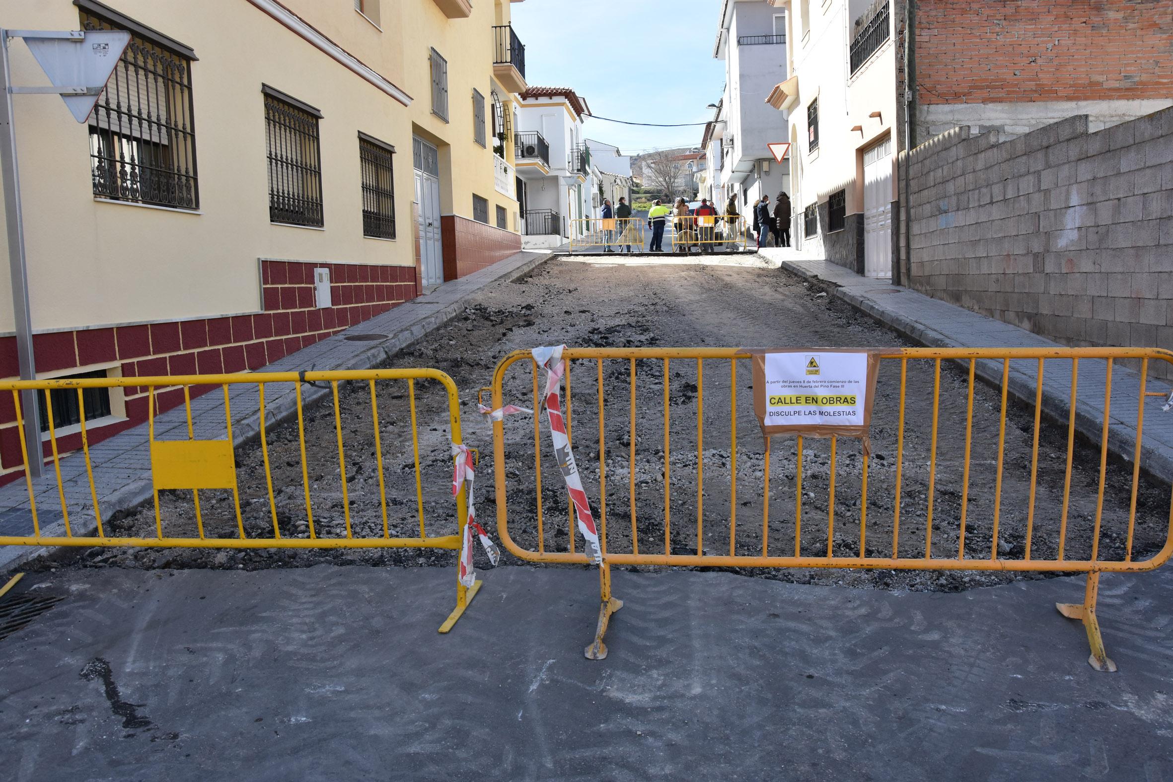 Obras en el barrio Huerta del Pino