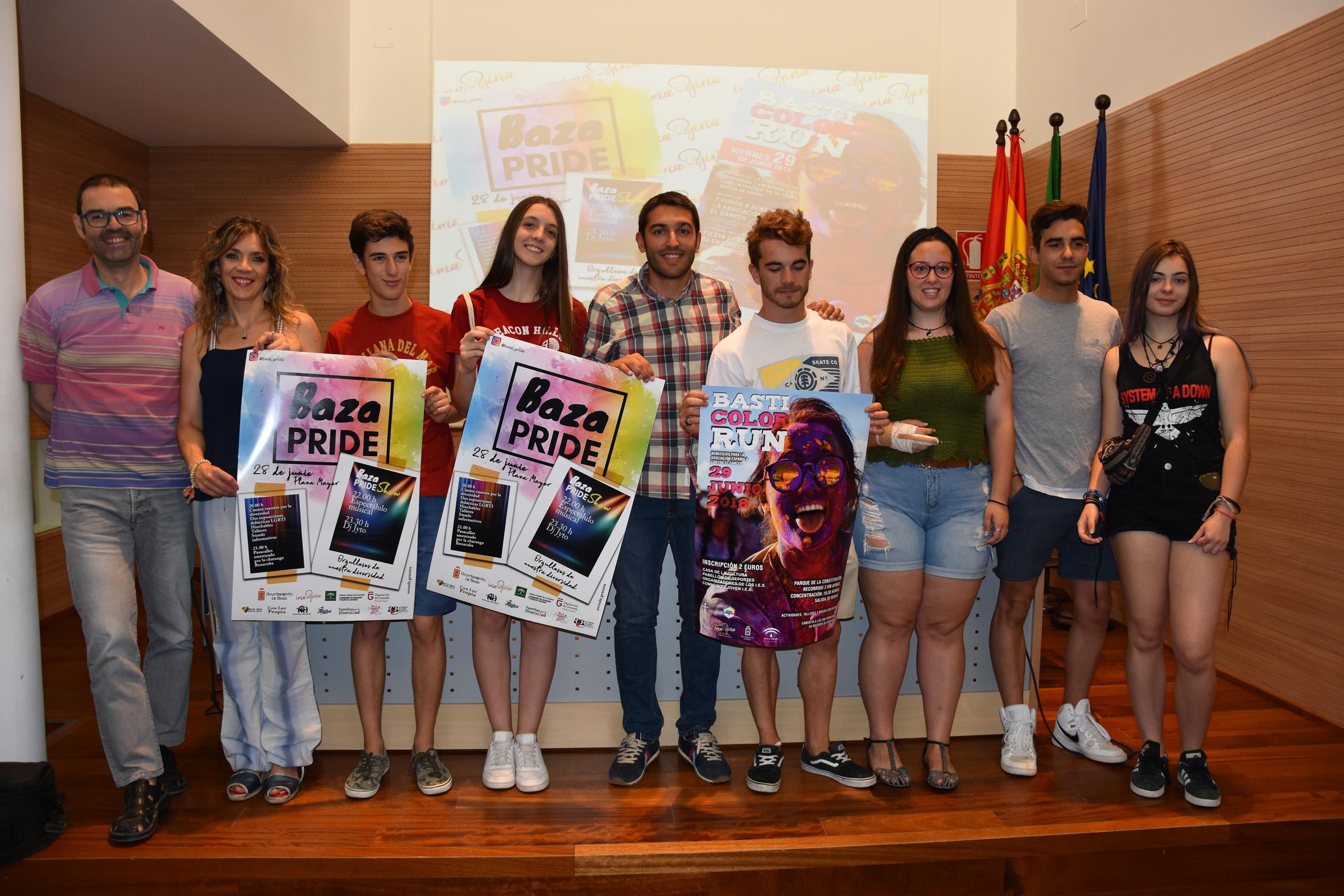 Organizadores del Baza Pride y de la Basti Color Run