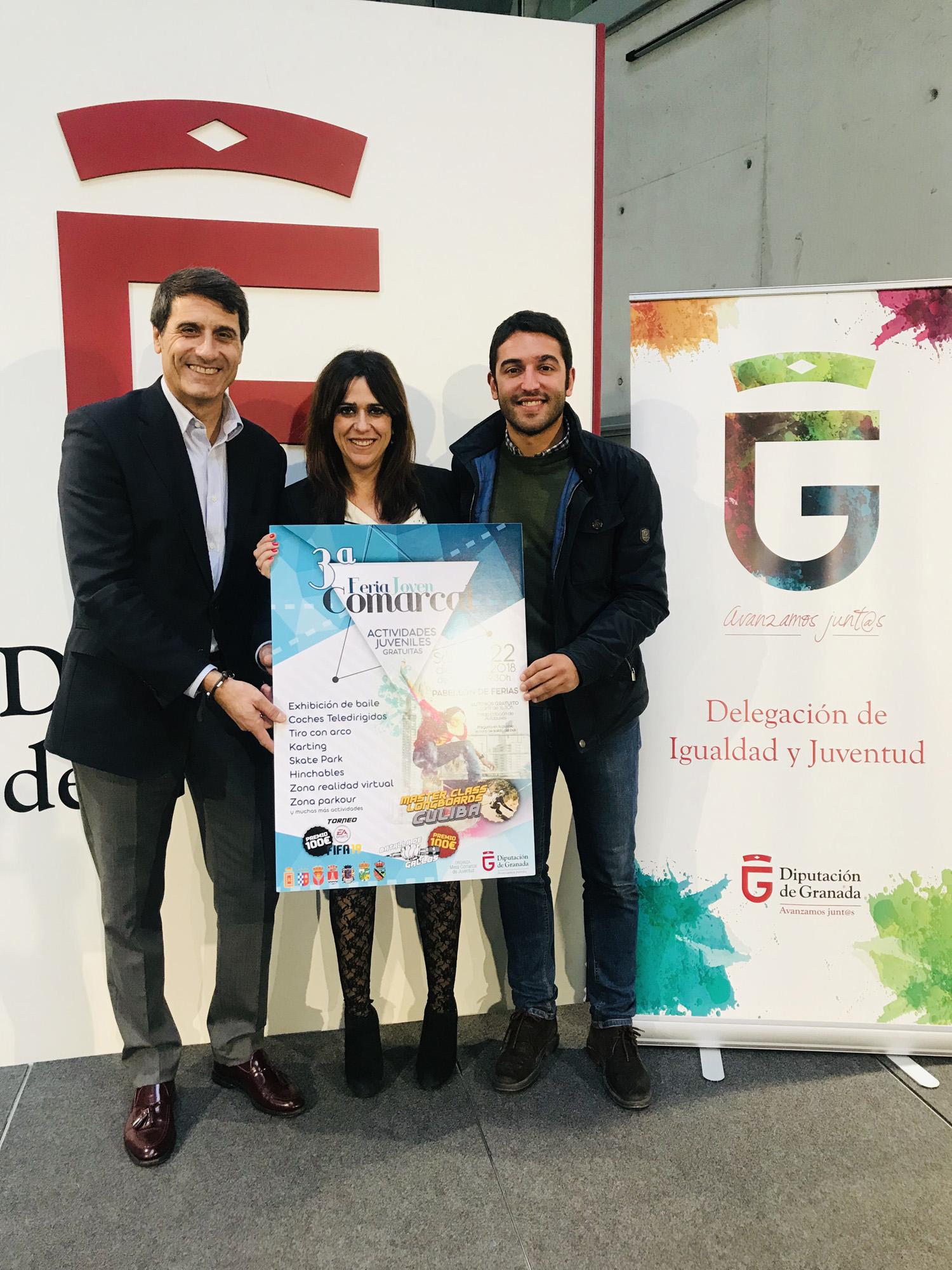 El alcalde de Baza, Pedro Fernández, y la diputada, Irene Justo, presentan la actividad