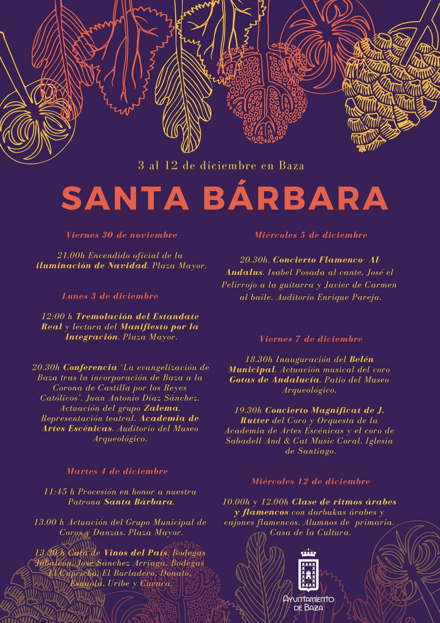 Programación Santa Bárbara