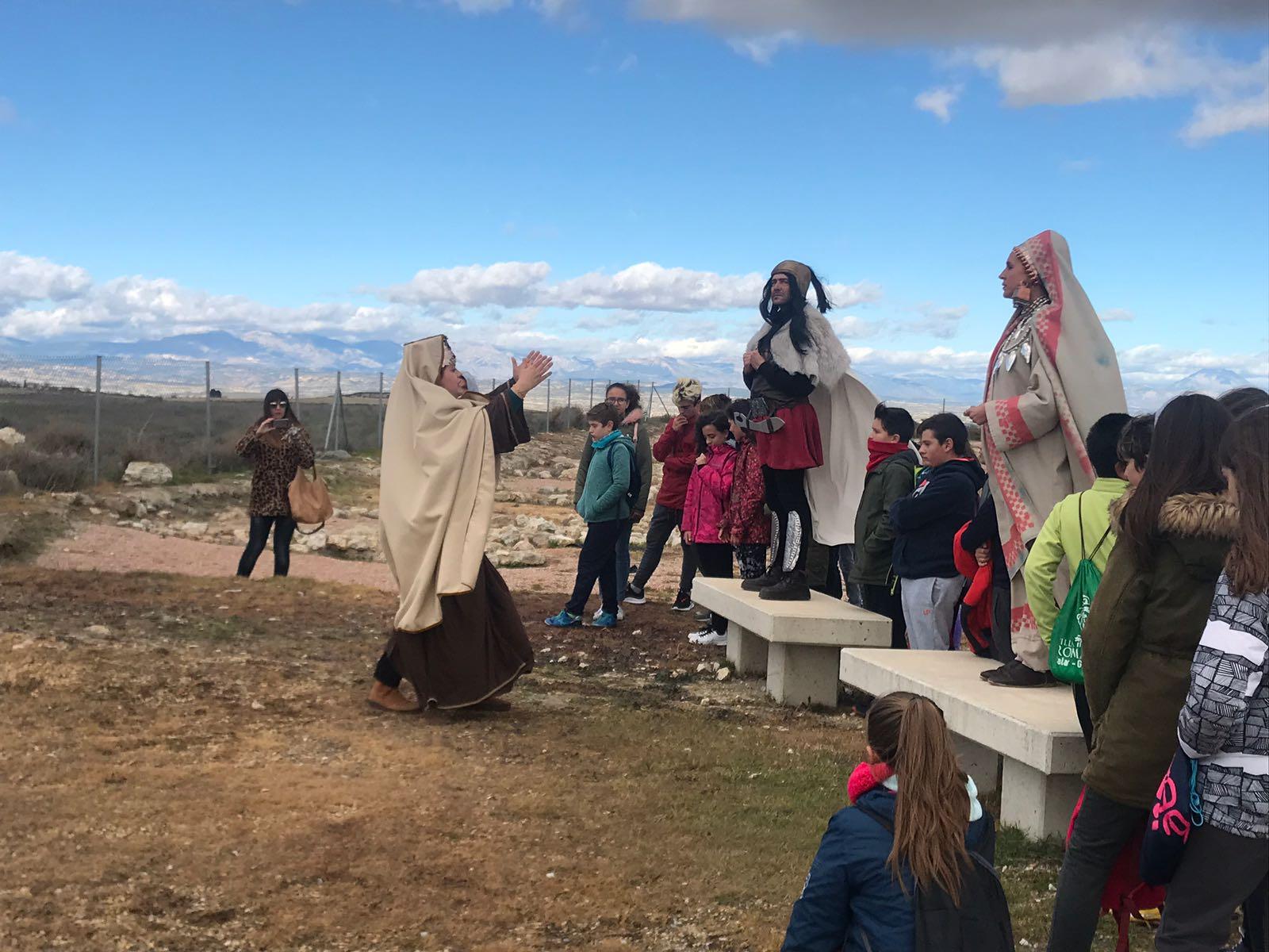 Visitas escolares a los yacimientos arqueológicos