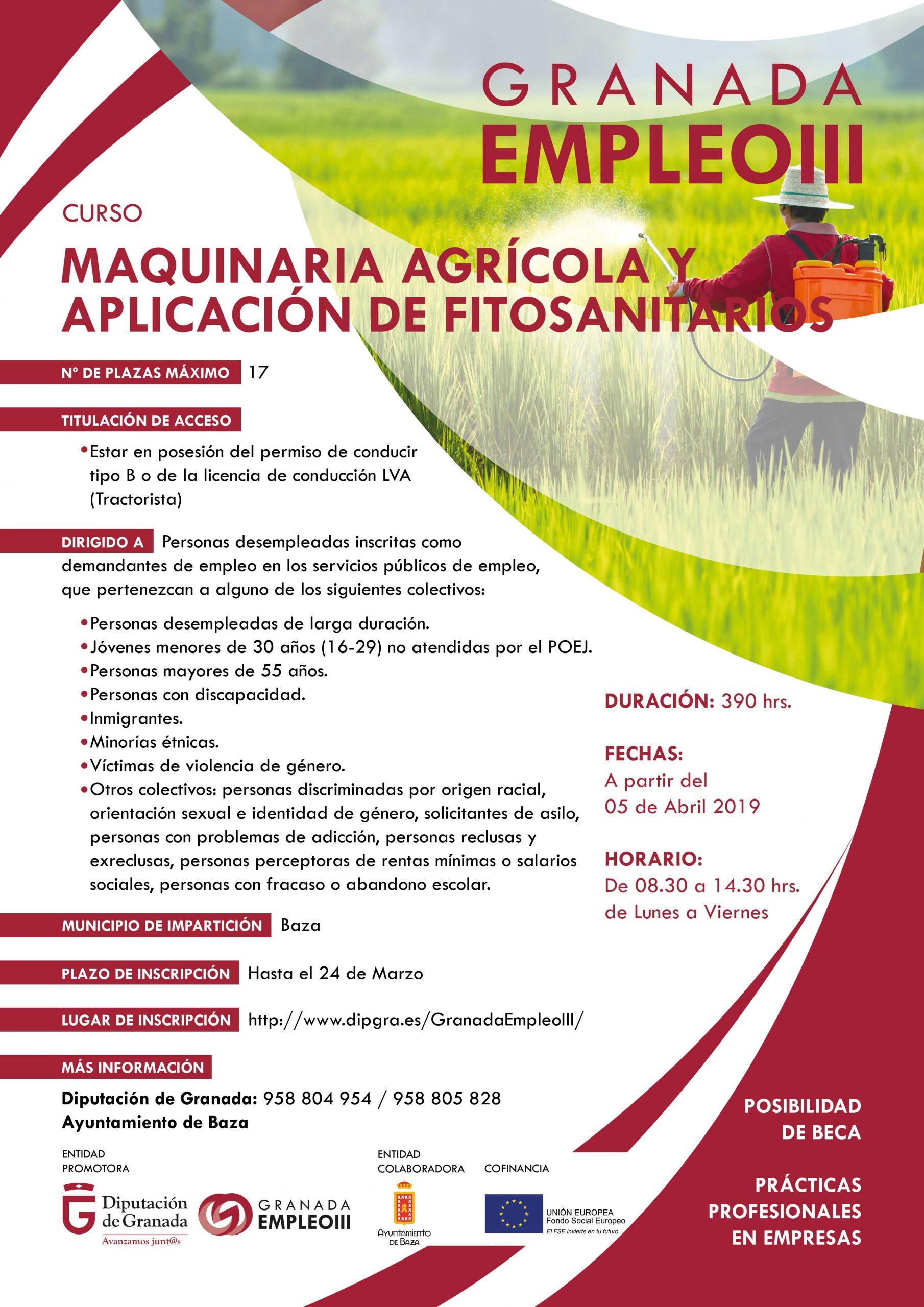 cartel maquinaria agricola baza granada empleoIII