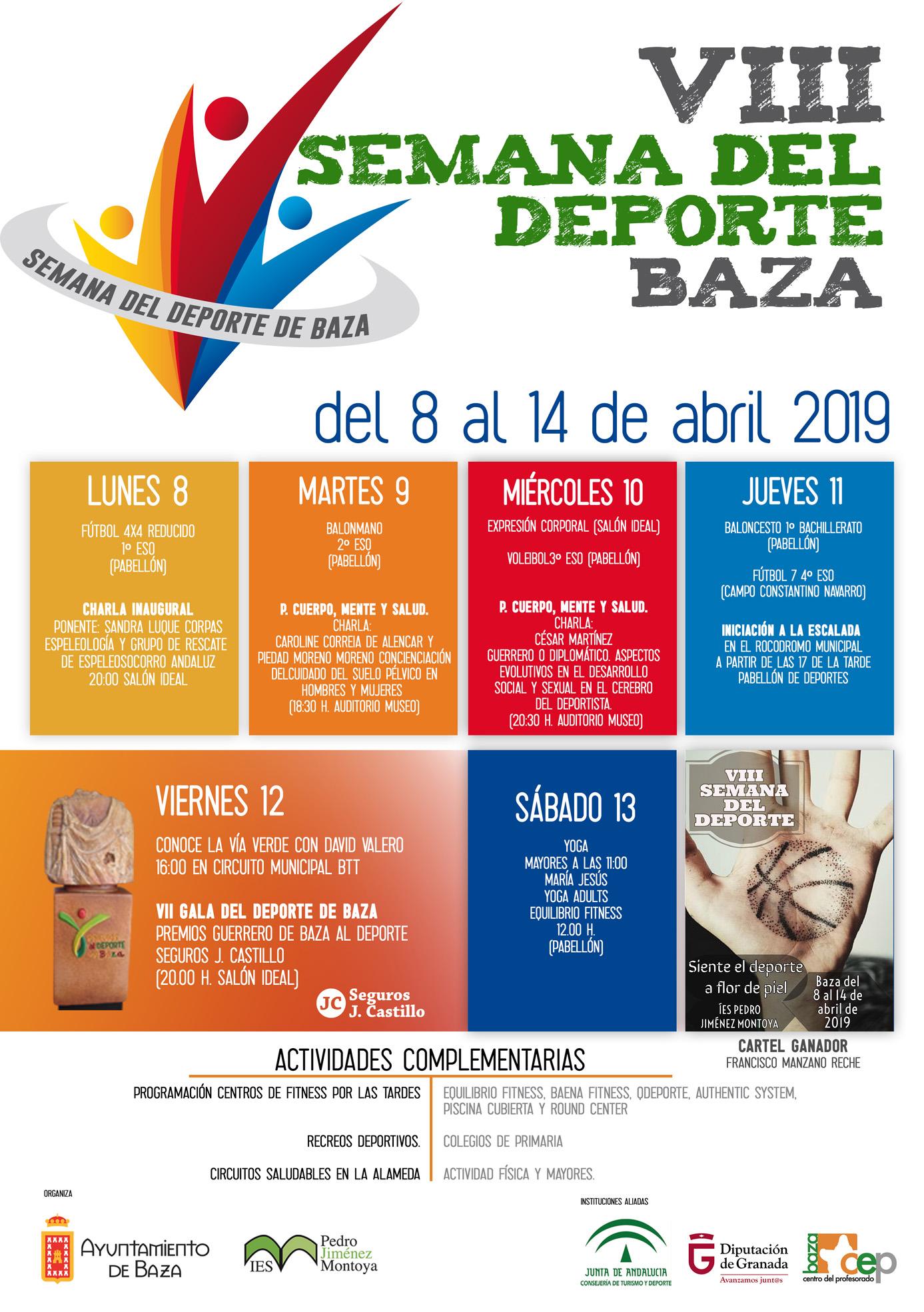 cartel Semana del Deporte 2019