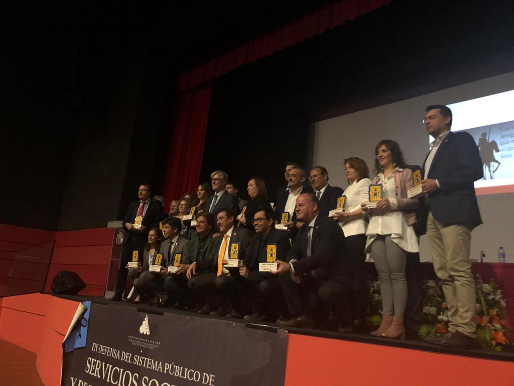 Recogida de los premios