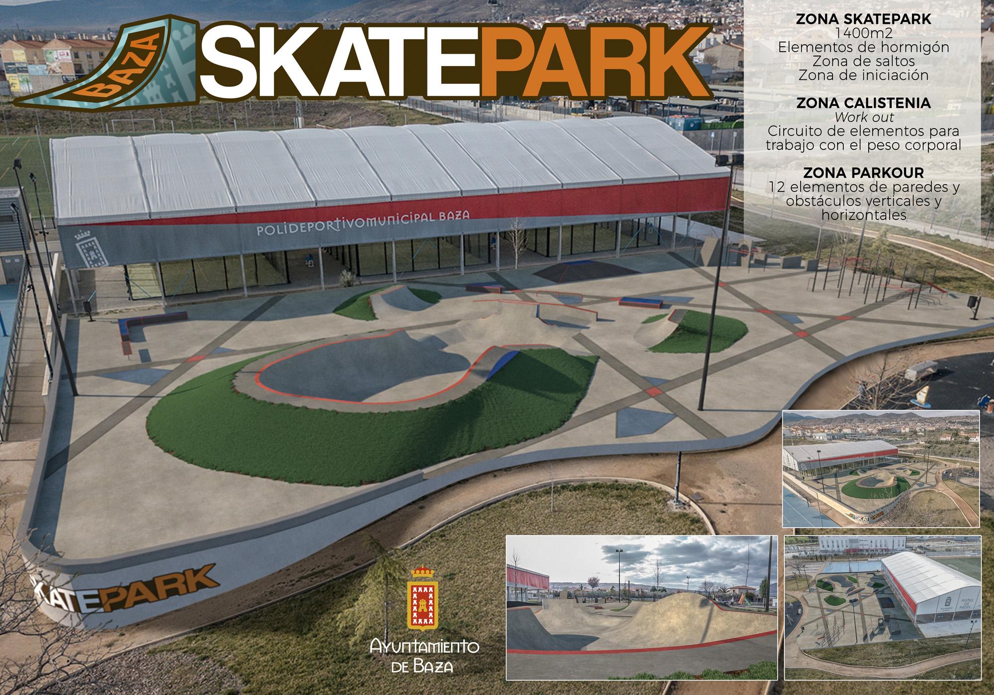 Diseño del skate park en el polideportivo municipal de Baza