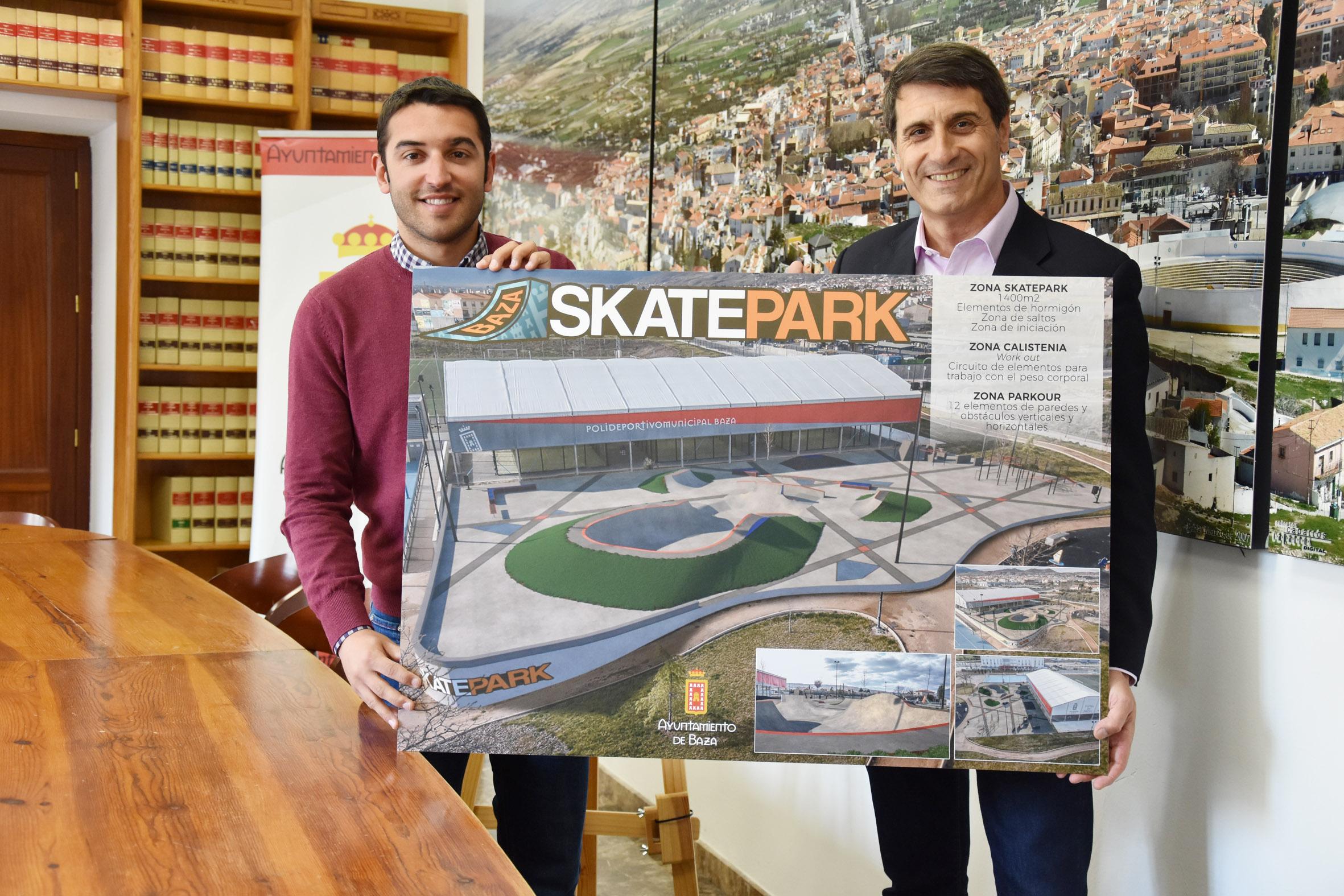 Presentación del espacio deportivo Skate Park de Baza