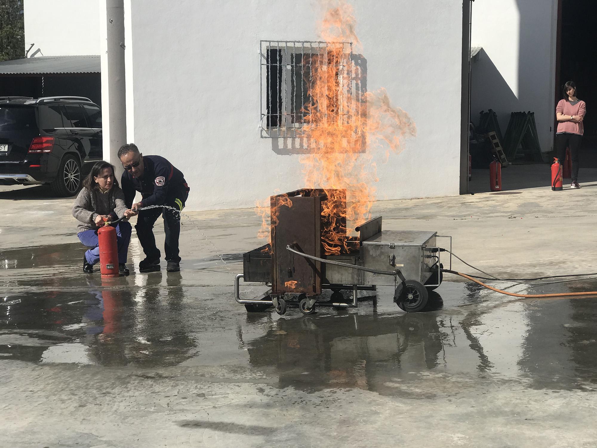 Formación en prevención y uso de extintores