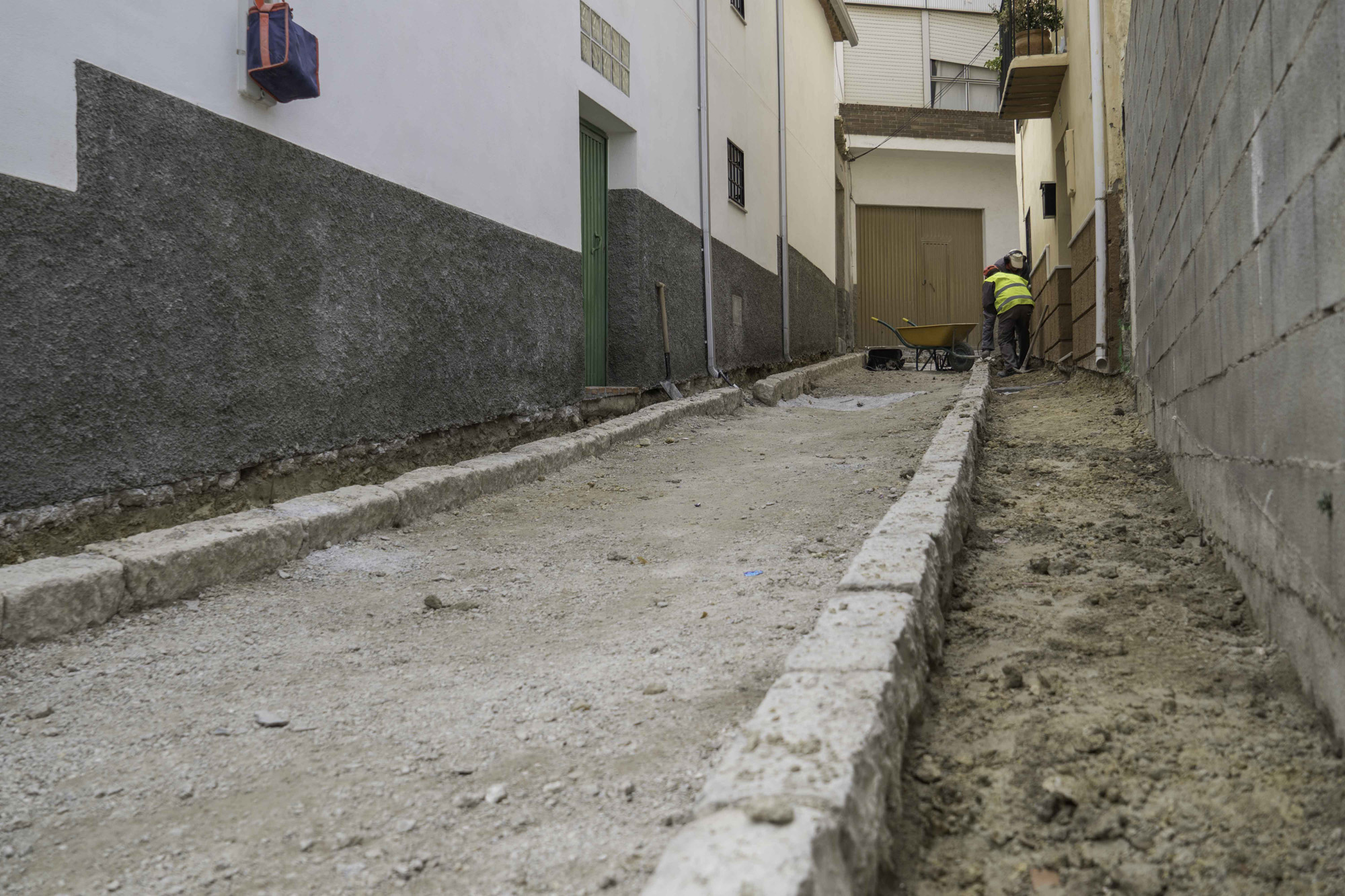 calle Jazmín en obras