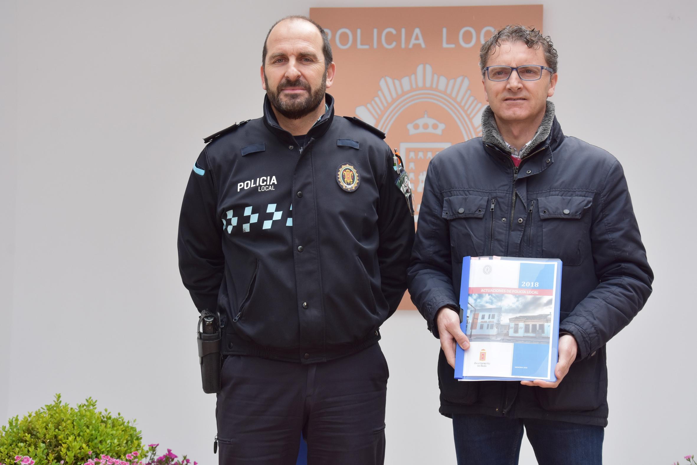 El concejal de Seguridad y el sub inspector de Policía Local