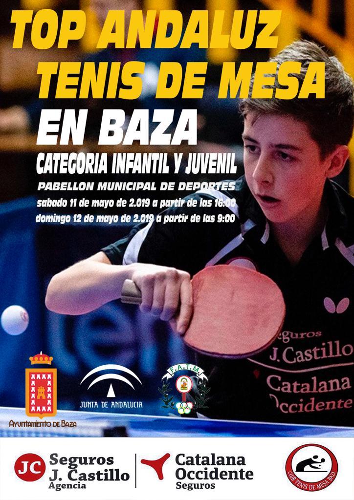 Cartel del Top Andaluz de Tenis de Mesa en Baza