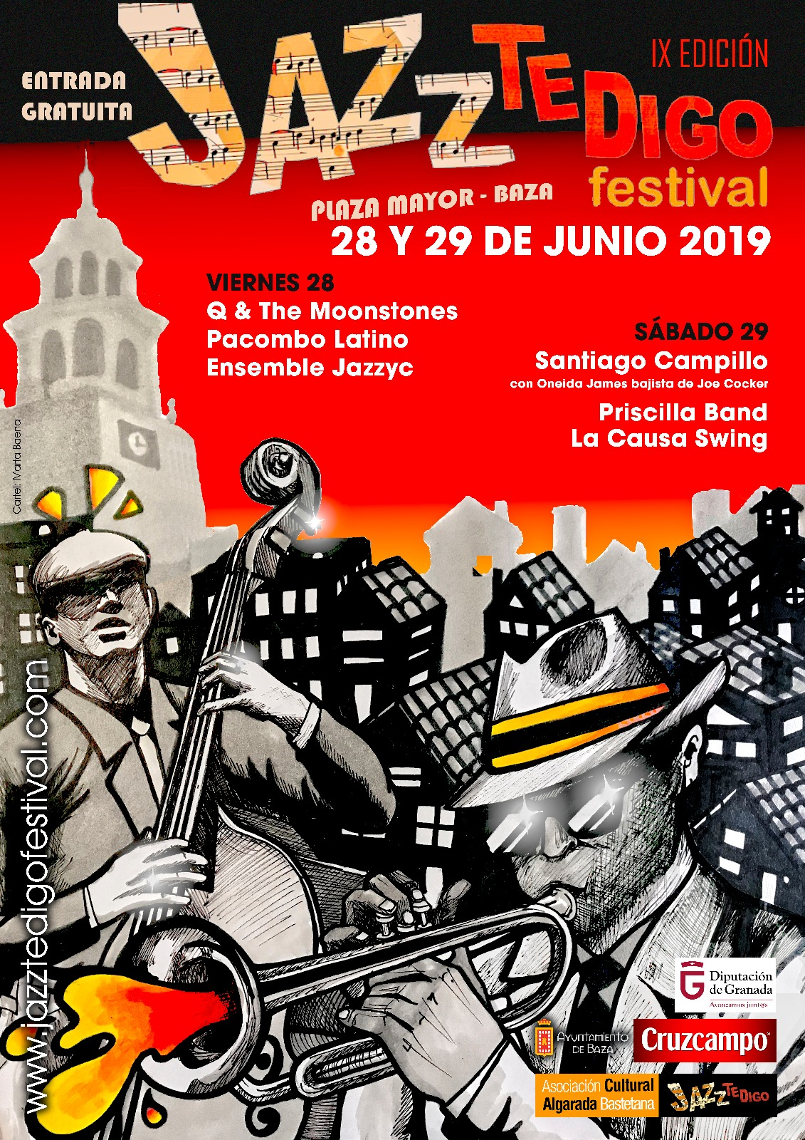 Cartel Jazz Te Digo Festival Baza
