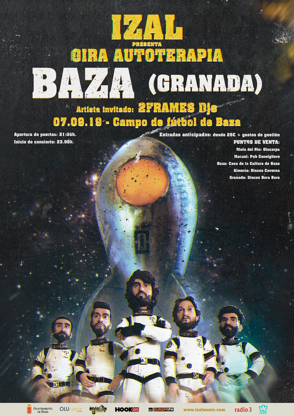 Cartel anunciador del concierto de Izal 7 septiembre