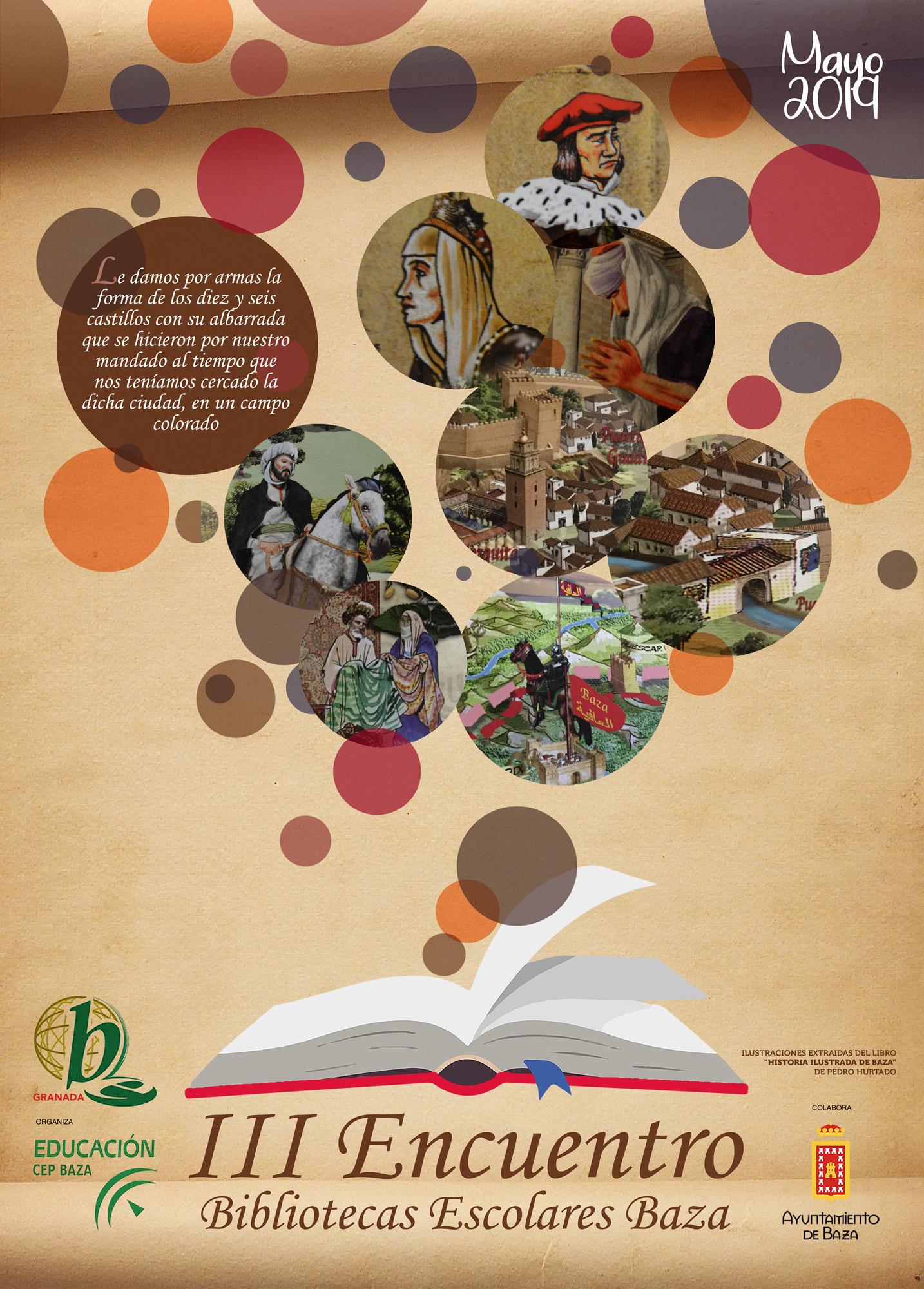 Diptico Encuentro bibliotecas escolares de Baza