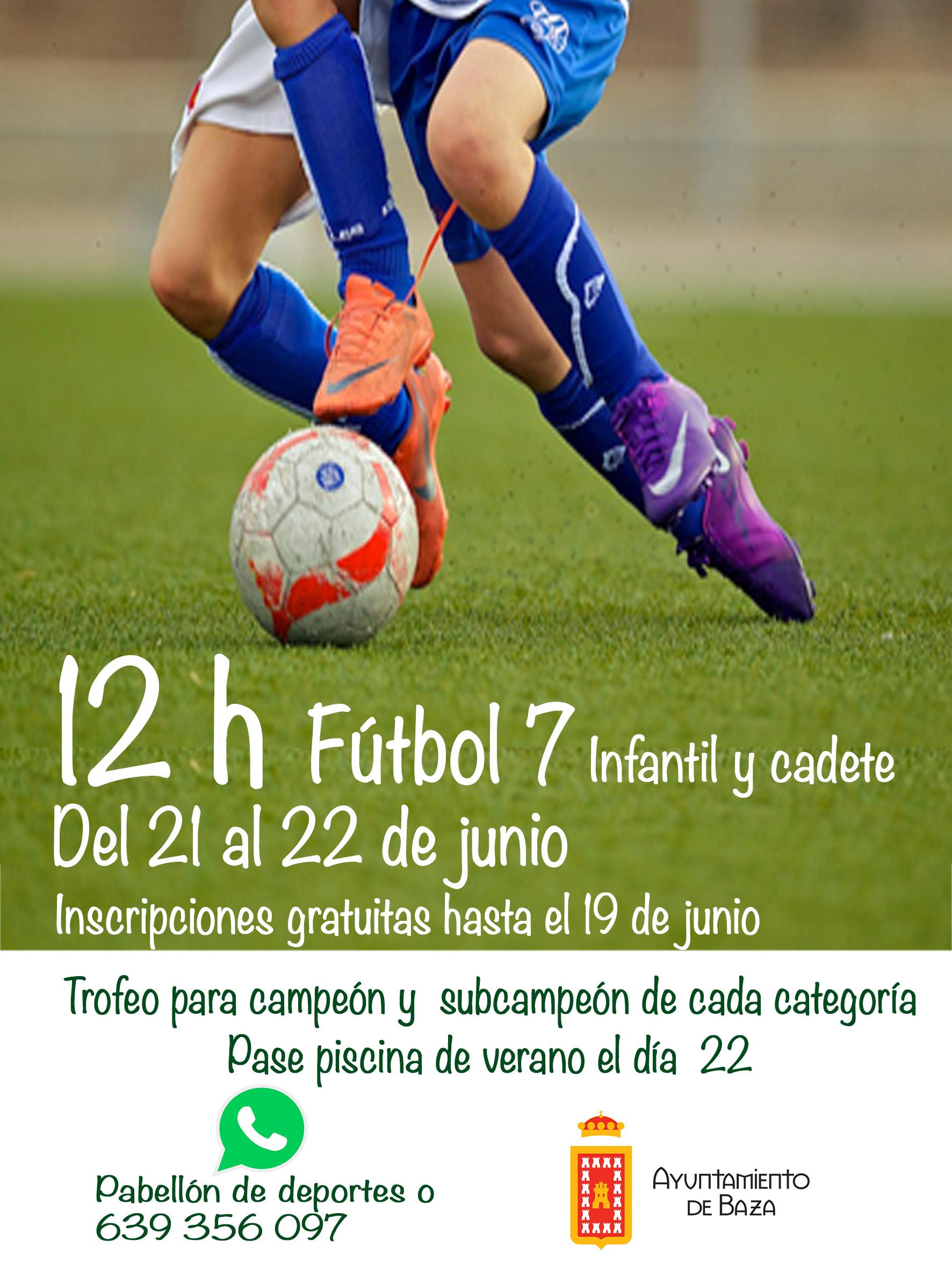 12 horas futbol sala infantil 2019