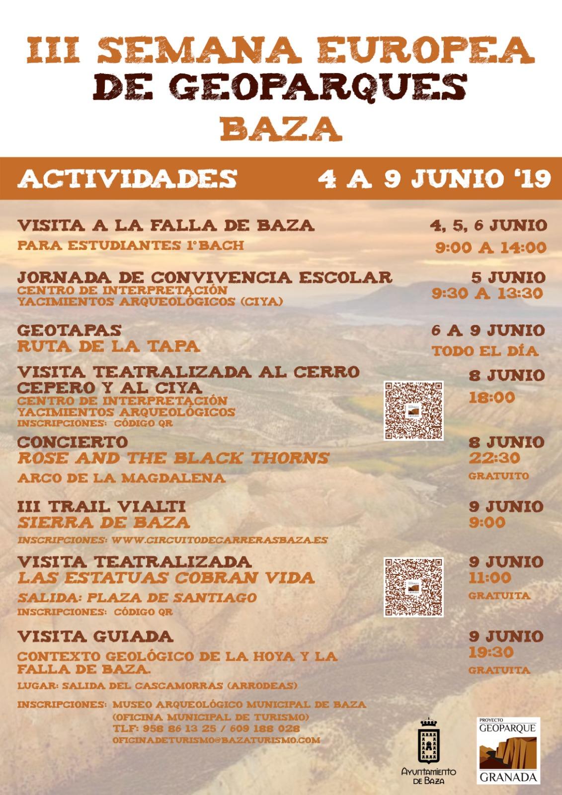 Cartel Semana del Geoparque en Baza