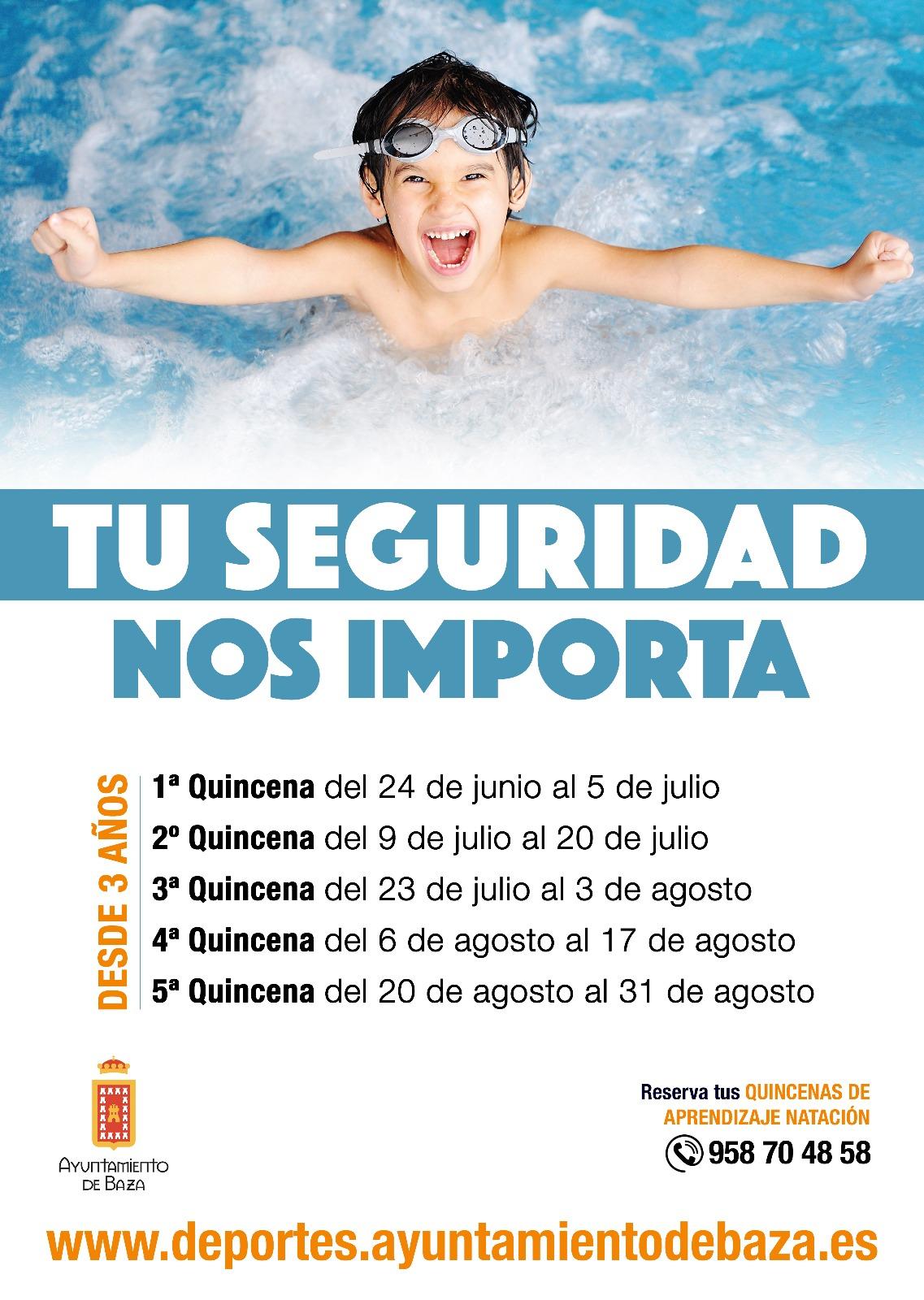 cartel natacion