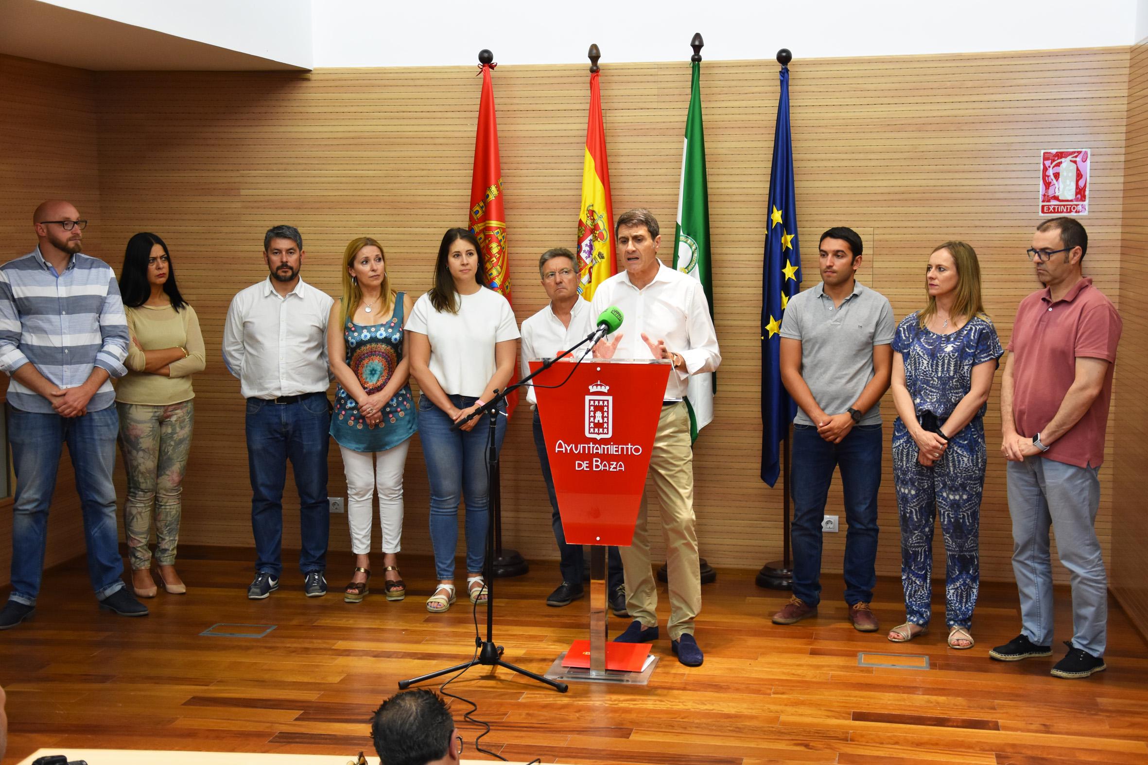 Nuevo equipo de gobierno municipal de Baza