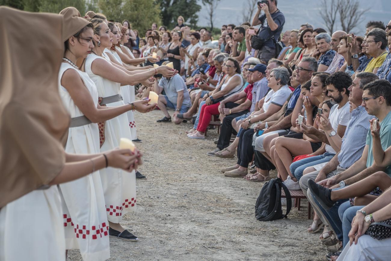 Recreación ritual incineració de la Dama de Baza. Foto Carmelo Mateos