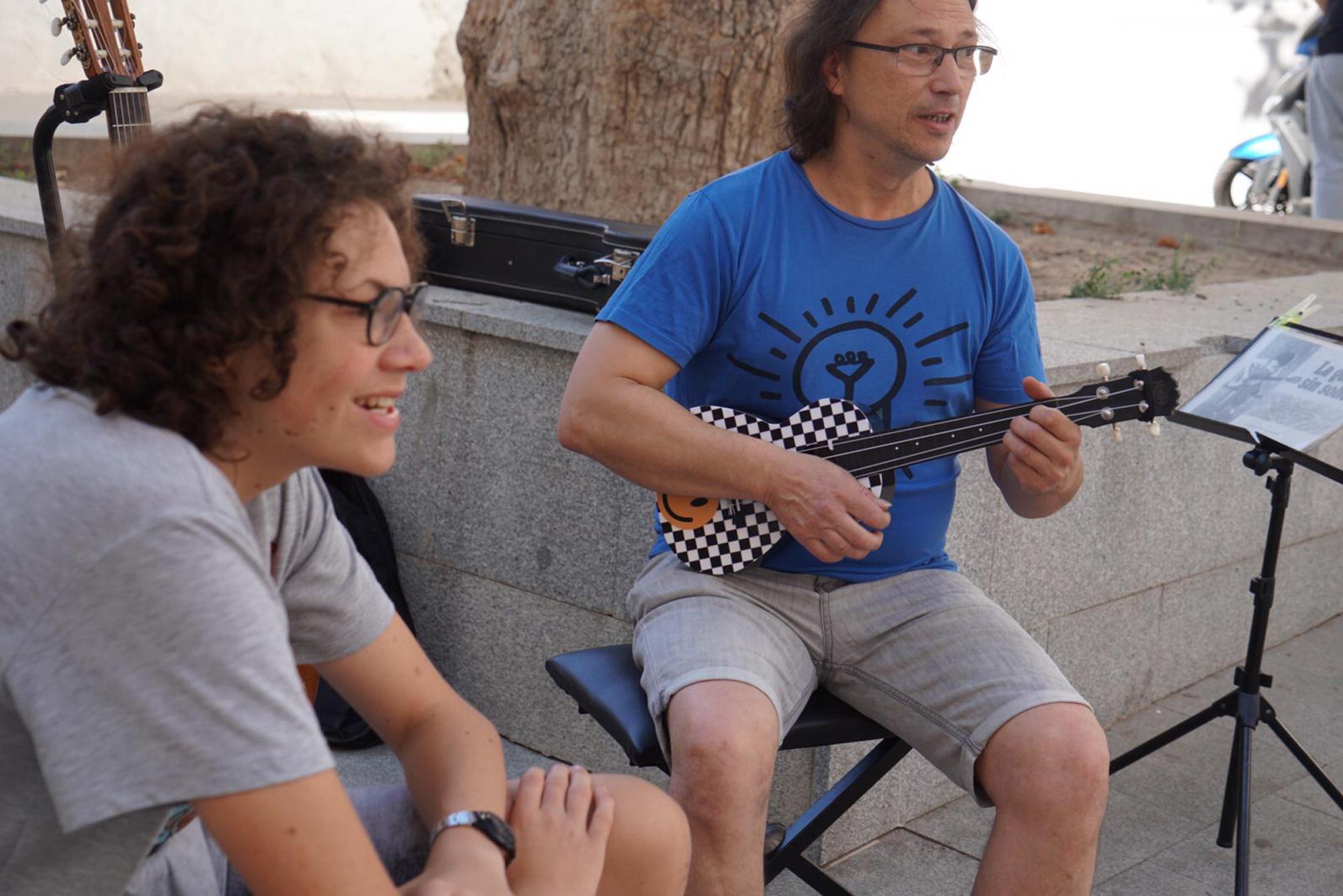 Taller de Música en la calle en Baza