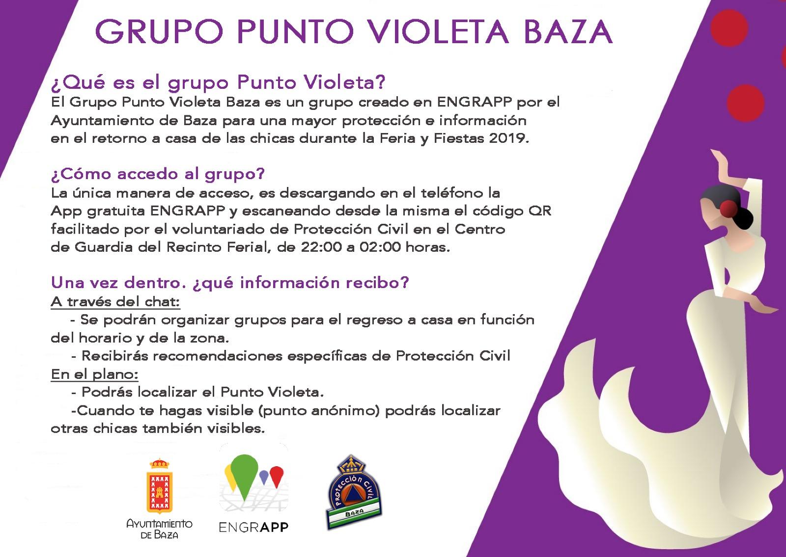 cartel punto violeta
