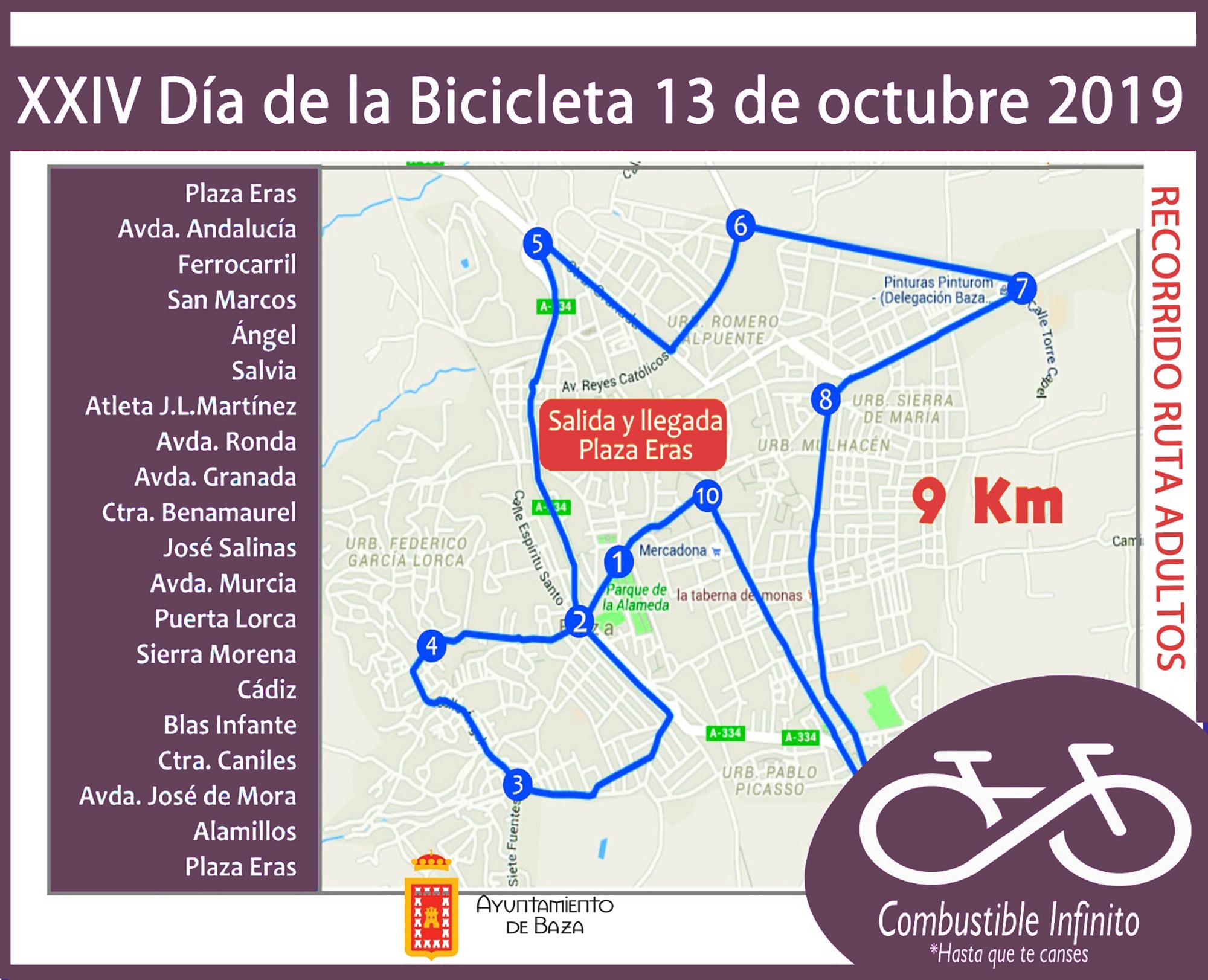 mapa Dia Bici