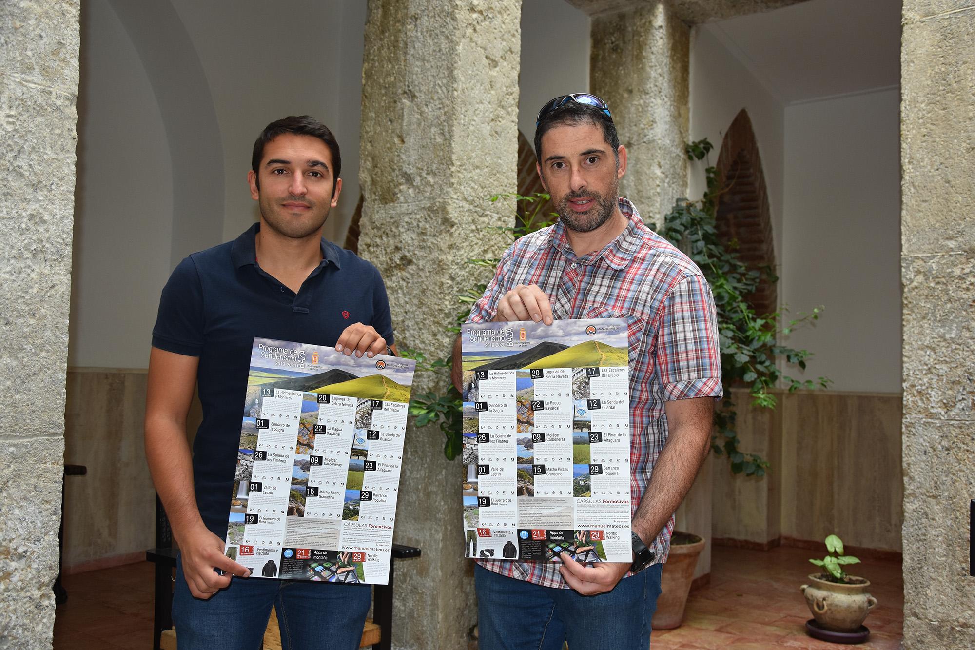 Manuel Mateos, guía de montaña, y Antonio Vallejo, concejal de Deporte de Baza