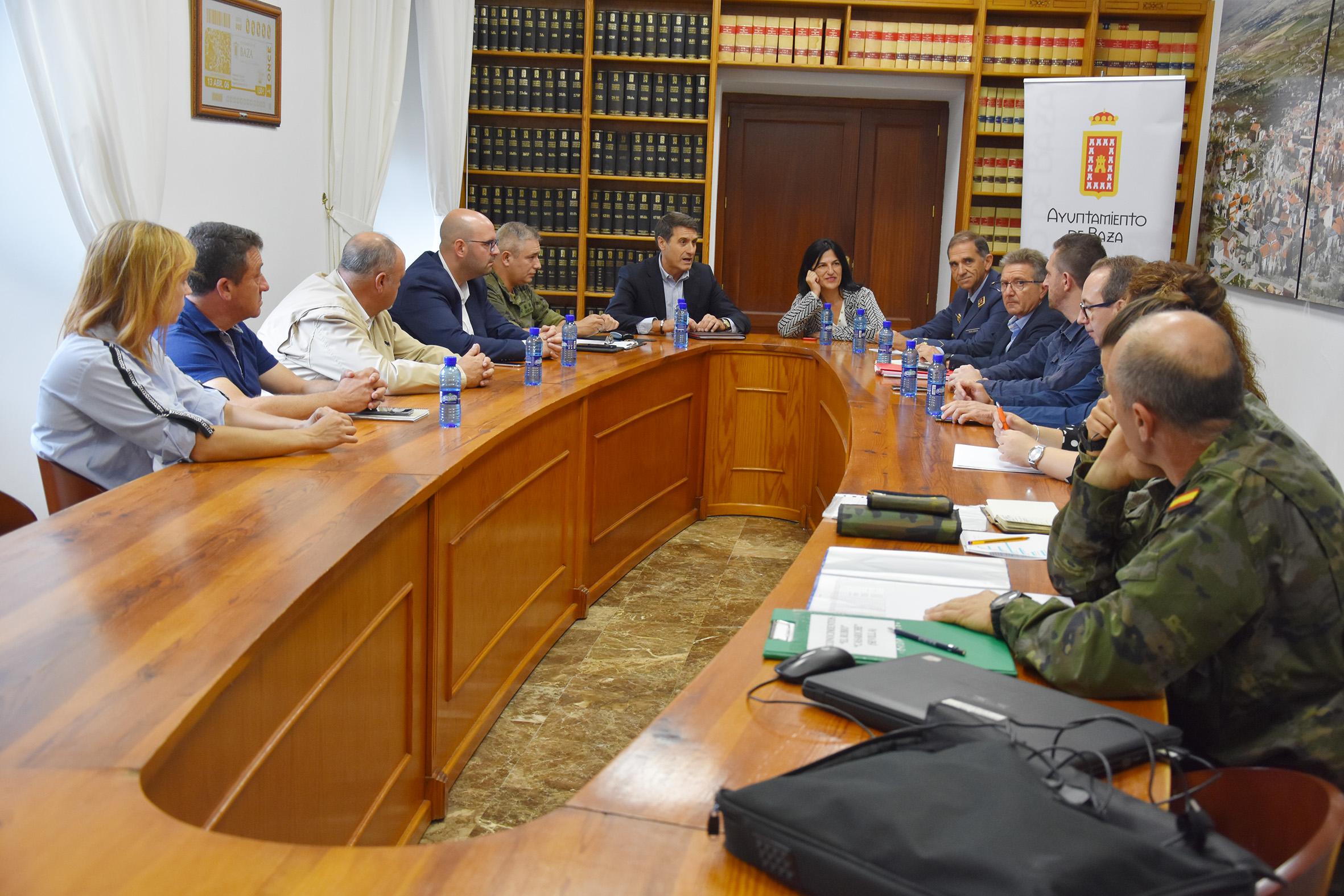 Reunión técnica y política en Baza para valorar la instalación del puente provisional