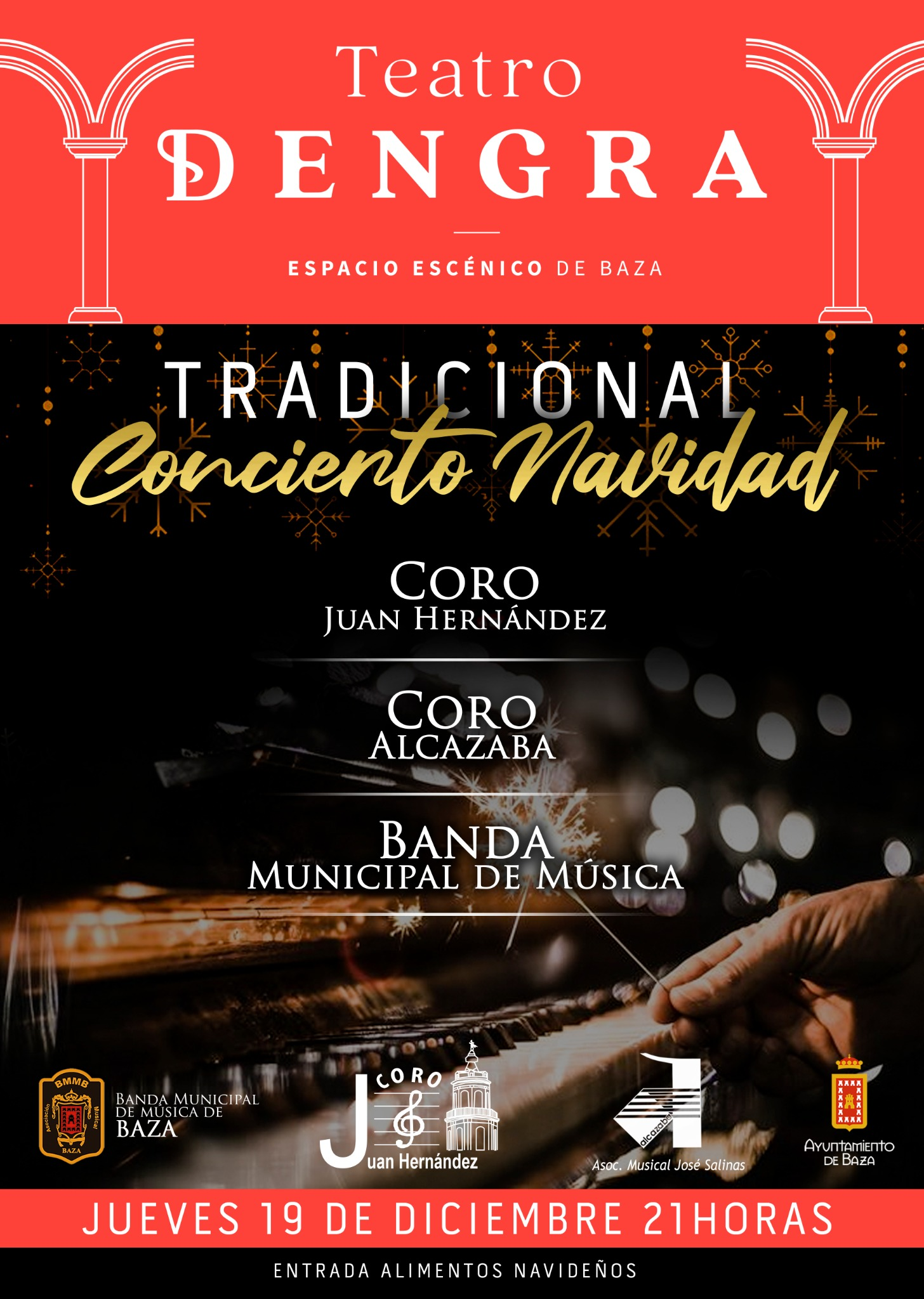 Cartel concierto de Navidad en Baza