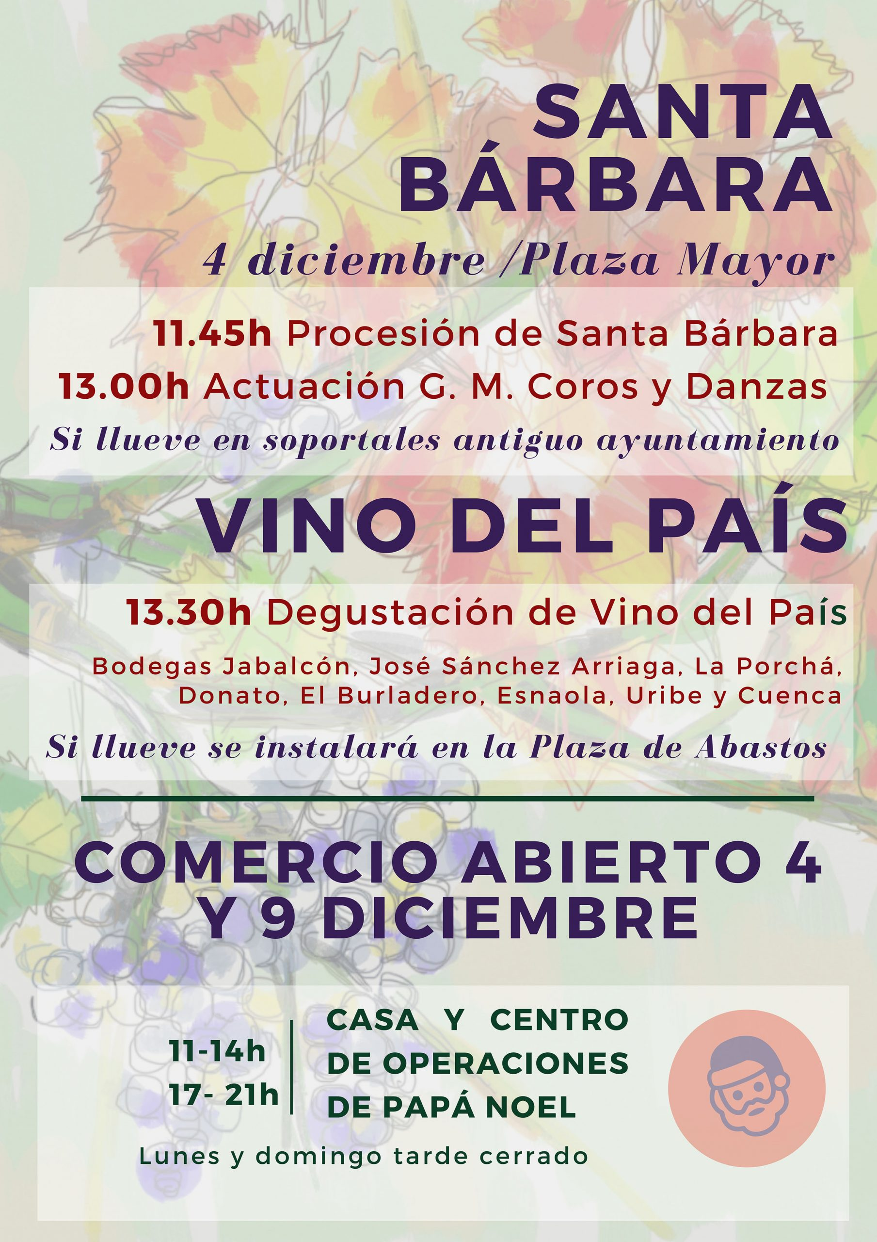 Santa Bárbara y Vino del País