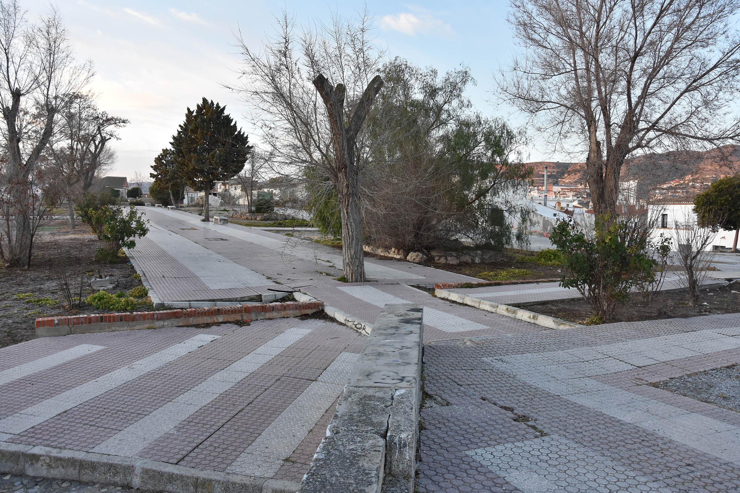 Espacio dónde se conservan algunos restos de la alcazaba de Baza