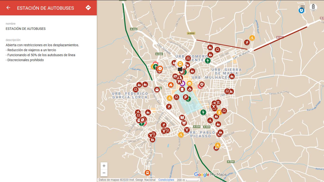 Mapa de recursos públicos de interés para el ciudadano