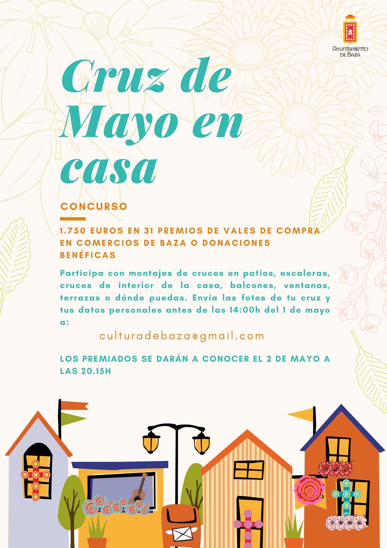 Cartel Cruces de Mayo en Casa. Baza 2020