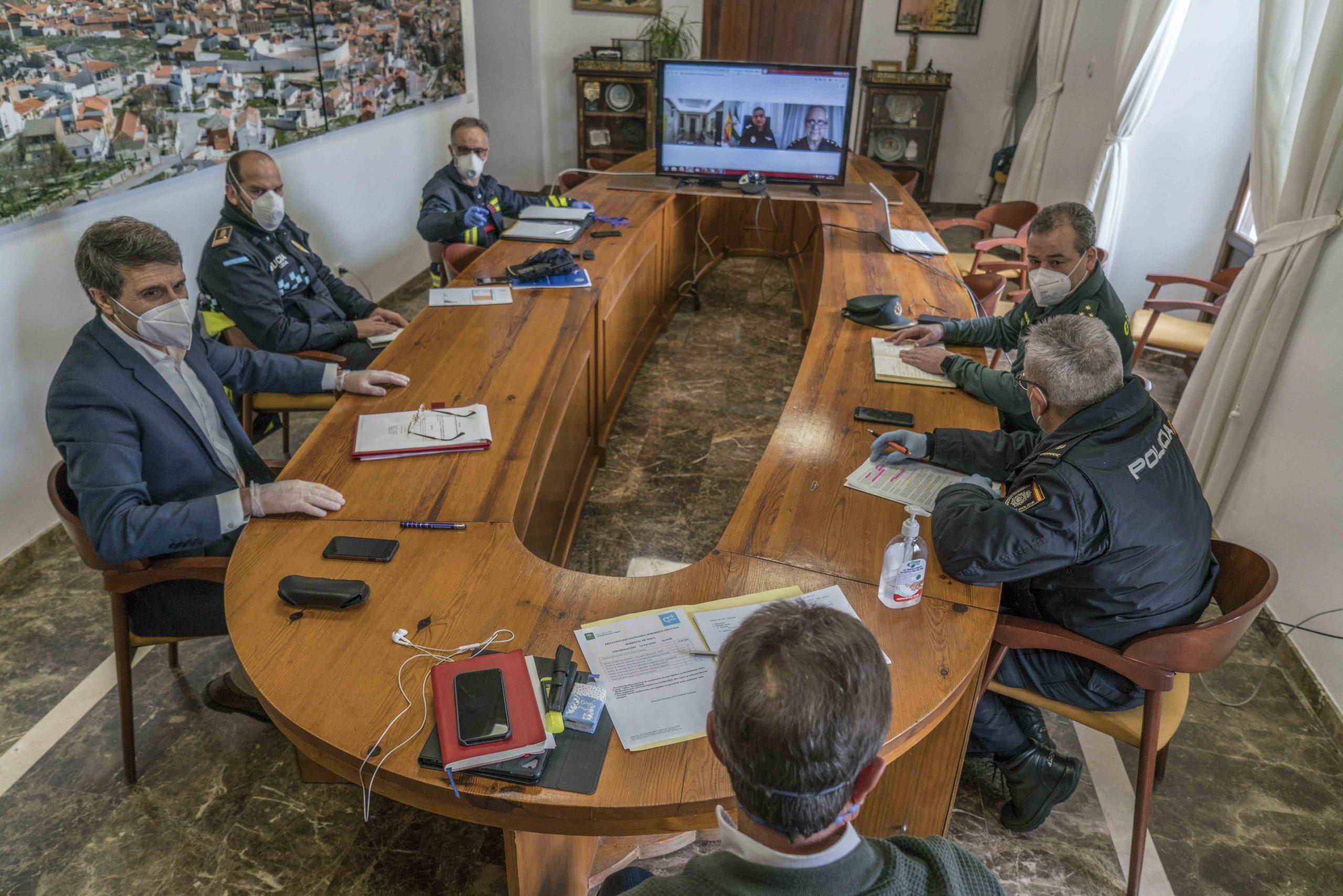 Junta Local de Seguridad Ciudadana de Baza. Foto Carmelo Mateos