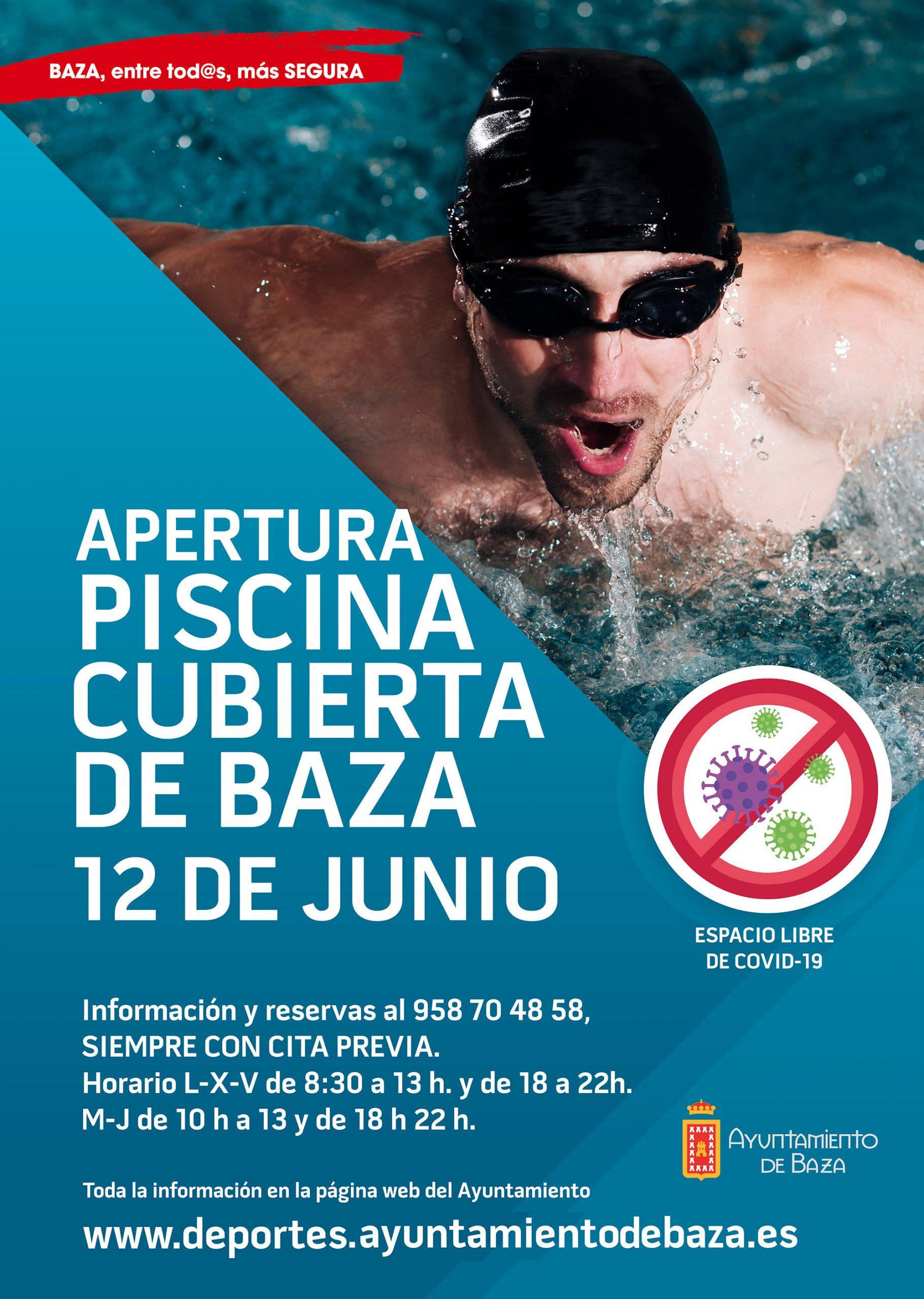 Cartel piscina cubierta municipal de Baza