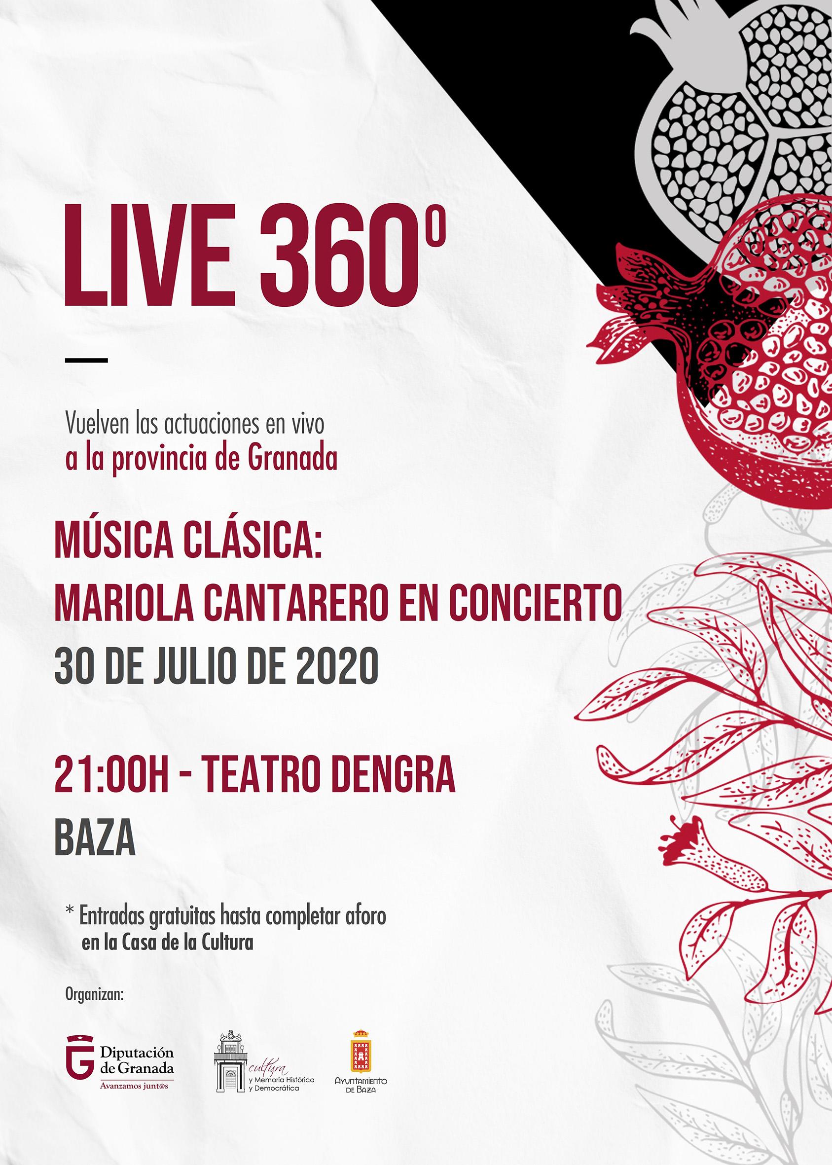 Cartel del concierto de Mariola Cantarero en Baza