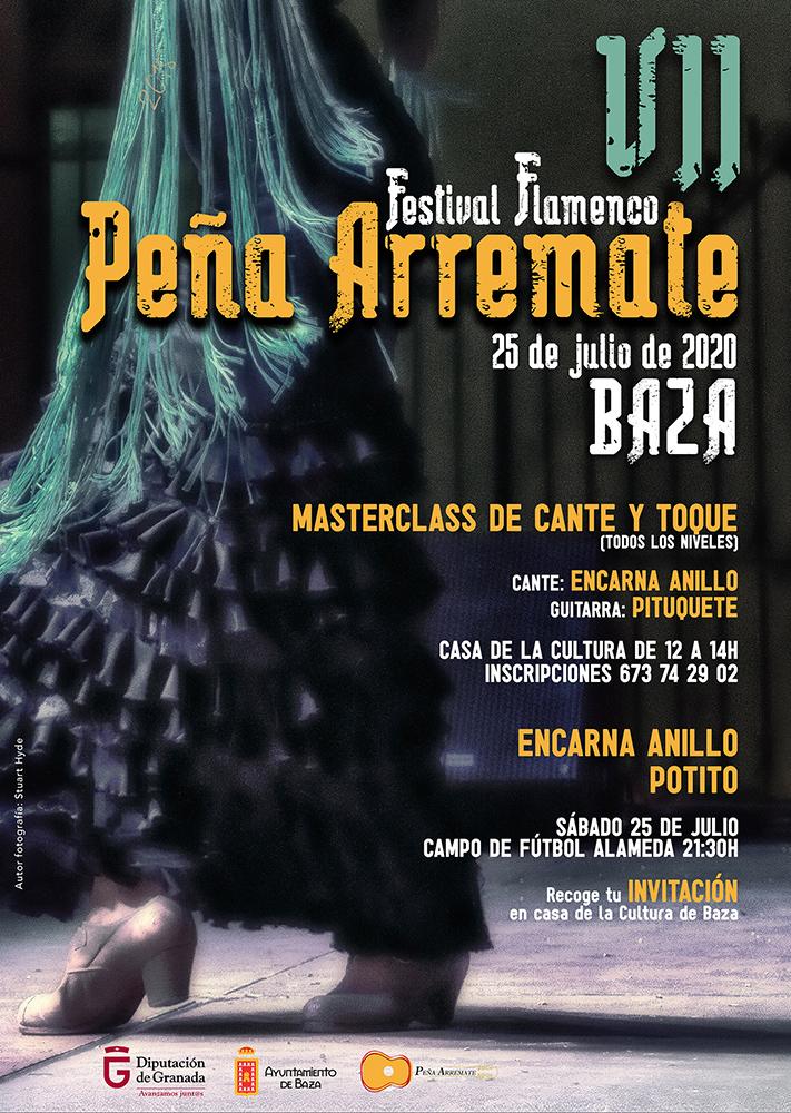 Cartel del Festival Flamenco Peña Arremate Baza