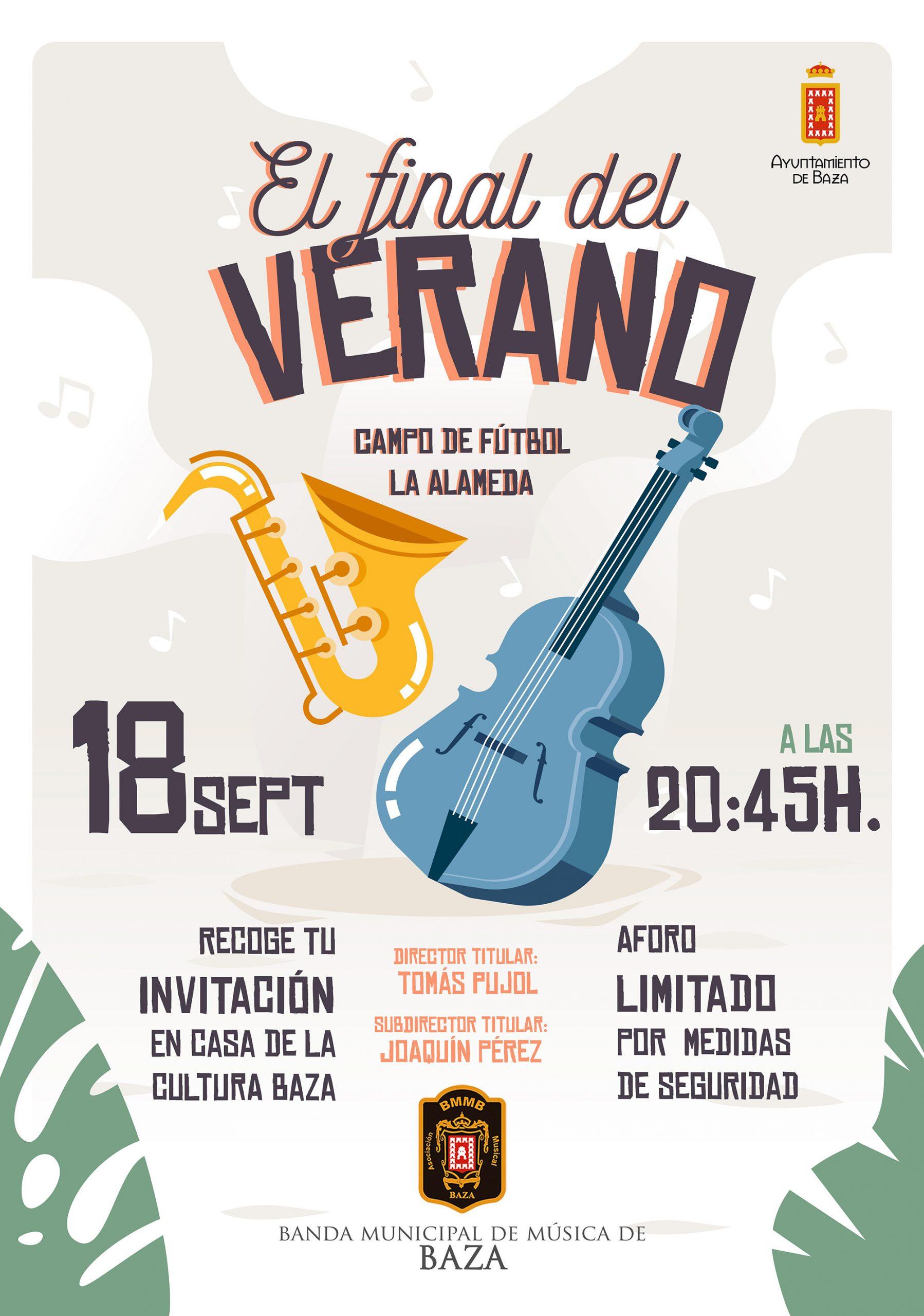 cartel del concierto de la Banda Municipal de Música