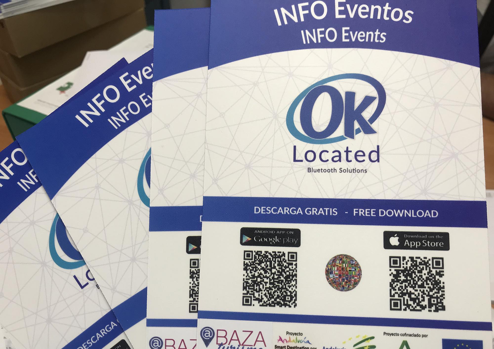 Imagen de las placas de los puntos de información turística en Baza